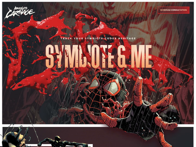 Introducing Symbiote and Me red carnage absolute carnage venom spider-man parallax graphics marvel designzillas mocktober2019 mocktober animation illustration comics
