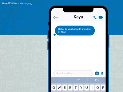 DailyUI Challenge - Day 013 - Direct Messaging