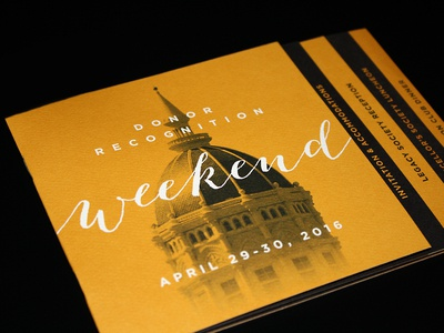 Mizzou Donor Recognition Weekend Invitation