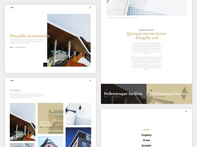 architect - website / portfolio / blog blog typogaphy minimalism clean architect portfolio ux ui landing page web web design webdesign