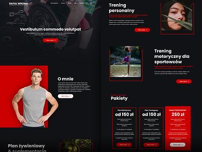 personal trainer - landing page trainer fitness personal portfolio landingpage web design webdesign web