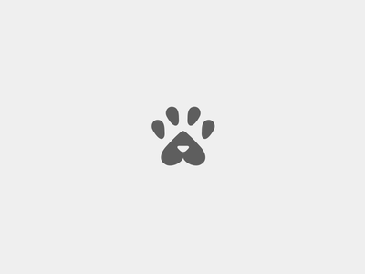 Cat trace letter a grey forest minimal logo mark flat trace animal