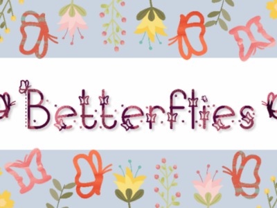 Betterflies branding logo icon display nature animal decorative butterfly cute creative typeface font decorating