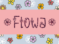 Flowa girly eco plant branding fonts font typeface design decorative cute flowers flower floral