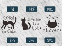 Cat Lover Quote svgfile craft crafting cute kitty kitten kittens svg meow catlife catlovers catlover cat cats