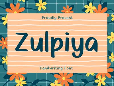 Zulpiya Font craft handwritten handwriting logo branding display typeface font design cute