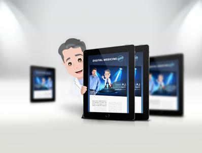 Digital medicine explained website ux ui design app