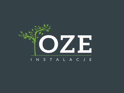 OZE vector branding logo design