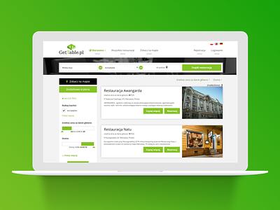 Get Table app branding web ux design ui