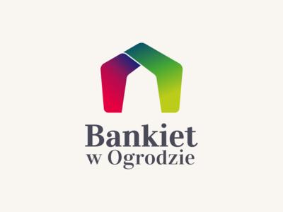 Bankiet w Ogrodzie branding design vector illustration logo