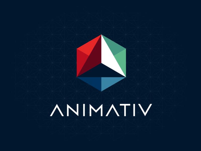 Animativ logo branding illustration design vector logo