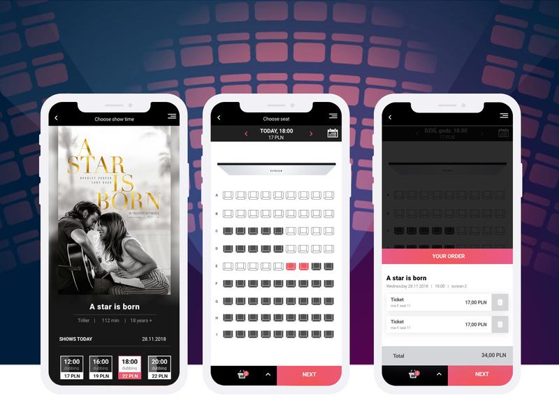 KinoApp mobile application web icon ui illustration app design ux