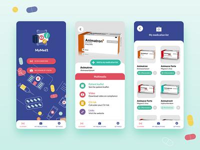 MyMed1 design app ui ux