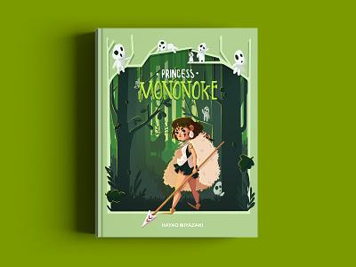 Princess Mononoke - Book Cover studio ghibli mononoke childrens illustration children book illustration childrens book book cover art fanart drawing draw character design photoshop digital painting illustration digital art