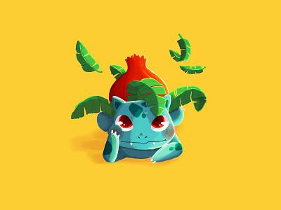 002 - Ivysaur ivysaur pokedex pokemon fanart photoshop art draw drawing photoshop digital painting illustration digital art