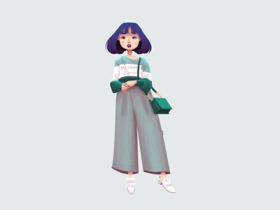 Korean fashion 2 digitalart korean fashion clothes fashion illustration fashion digital illustration photoshop art drawing draw character design characterdesign photoshop characters digital painting illustration digital art