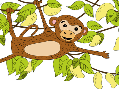 monkey in mango thickets