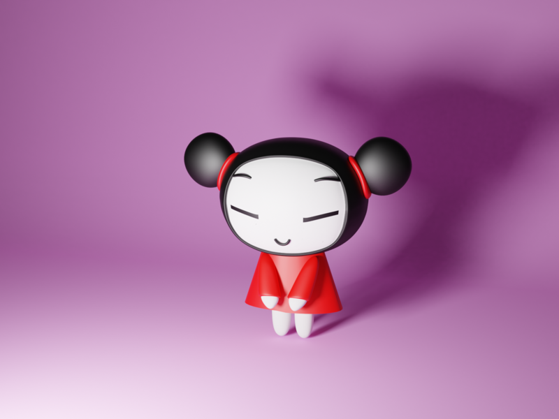 Pucca characters character cartoon character cartoon low poly render lowpoly blender 3d