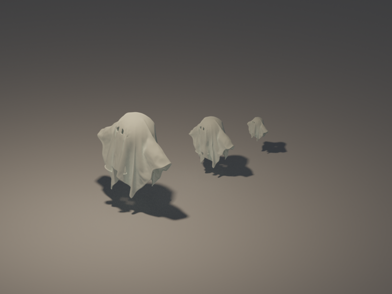 Ghosts ghosts ghost isometric characters character game render low poly blender lowpoly 3d