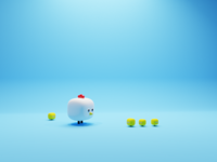 Chickens blender3d game chickens chicken animals illustration lowpoly characters character render blender 3d