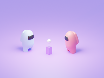 Among us character lowpoly space among us amongus illustration b3d game characters render blender 3d