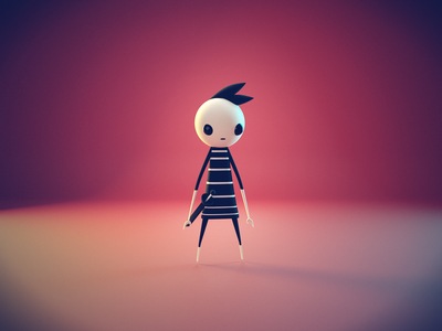 A boy named Pete character neversong concept characters illustration game low poly lowpoly render blender 3d
