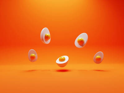 Elizabegg, Egna, Egward, Egbert and Freg easter egg easter eggs egg nftart nft gif animation concept low poly lowpoly render 3d blender