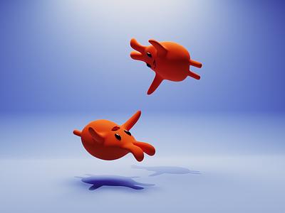 Wee! cuteillustration cute flying friends nftartist nftart nft monsters concept characters b3d illustration low poly lowpoly 3d render blender