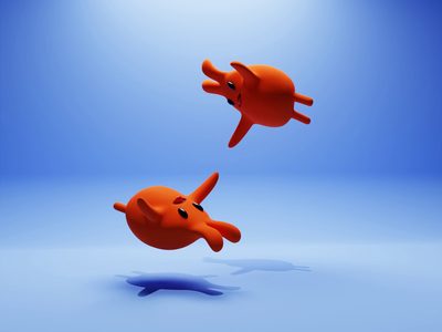 Wee-heee-hoo! flying cute nfts nftart nft animation concept characters b3d illustration low poly lowpoly render 3d blender