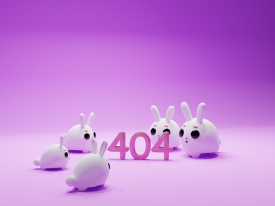 404 web 404 page 404 character concept characters illustration b3d low poly lowpoly render 3d blender