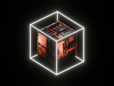 The Cube nftcommunity nftart nft cube sci-fi scifi concept b3d lowpoly render 3d blender