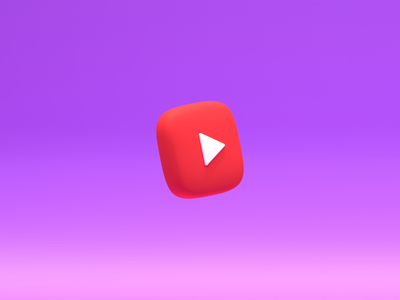 Youtube mockup ui icons b3d lowpoly render 3d blender