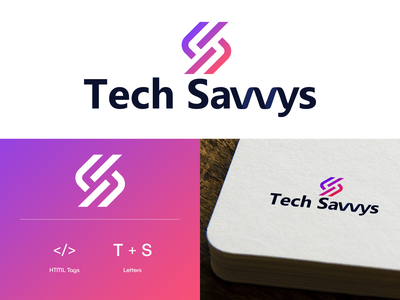 Tech Savvy Logo illustraion icon design tech logo logo branding