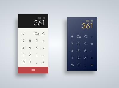 Calculator ui design illustration calculator ui