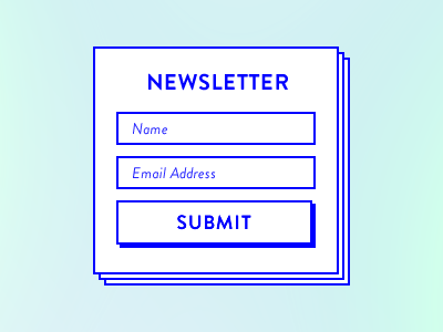 Newsletter Subscribe Form signup newsletter subscribe form flat shadow border email gradients