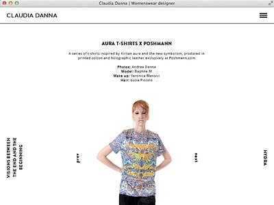 claudiadanna.com webdesign minimal ui design fashion womenswear portfolio interaction responsive design iphone css3 html5