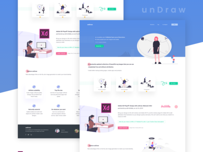 unDraw : Website Redesign Concept