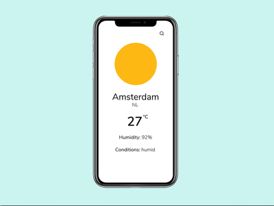 OhWeather - Main page