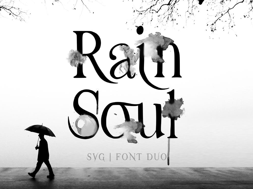 Raim Soul SVG font. watercolor art serif font serif font calligraphy dribble logo color font typography design branding watercolor drawing fontself svg font svg soul rain