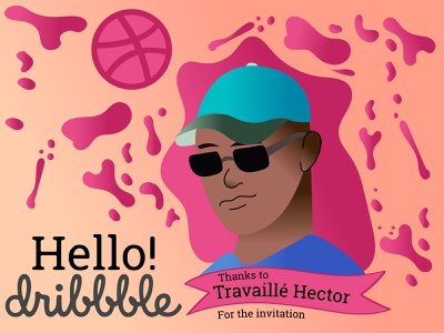 Hello Dribble! student graphic design graphic designer hellodribbble hello dribble illustrator designer digital dribbble debutshot debut ui logo art design vector minimalist adobe illustration creative