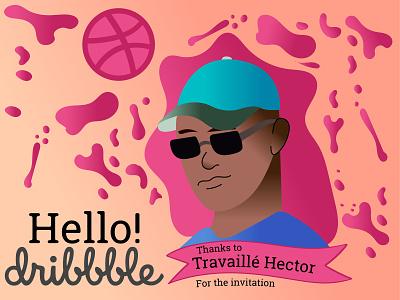 Hello Dribble! student graphic design graphic designer hellodribbble hello dribble illustrator designer digital dribbble debutshot debut ui logo art design vector minimalist adobe illustration creative