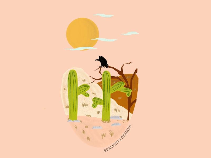The Desert college students desert web ui vector student work student logo illustrator graphic designer graphic design designer minimalist drawing art adobe illustration creative design