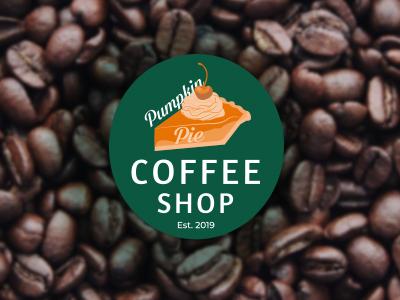 Pumpking Pie Coffee Shop Logo typography adobe students photoshop college branding ui logo vector student work illustrator graphic designer student designer art minimalist graphic design adobe creative illustration design