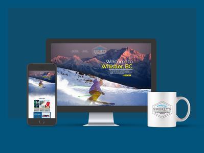 Smokey s Website adobe dreamweaver shop webdesign website snowboard skin mountain snow css html5 branding logo ui student designer minimalist graphic design adobe creative design