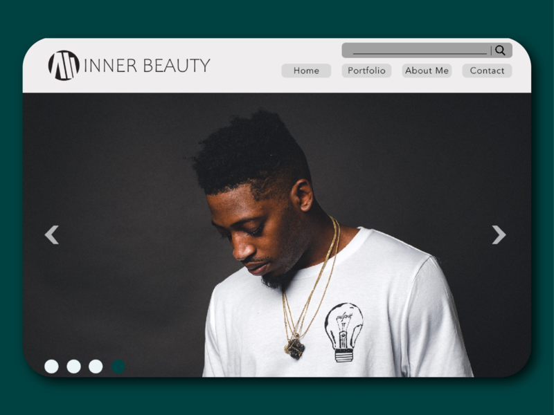 Inner Beauty Photography Website dreamweaver ux website webdesign ui designer student minimalist graphic design adobe creative design