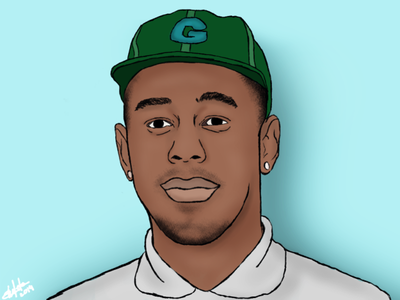 Tyler The Creator dribble learning tyler the creator drawing rapper sketch photoshop student work art student graphic design illustration design creative adobe