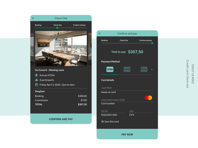 Credit Card Checkout mobile app interface ui uidesign