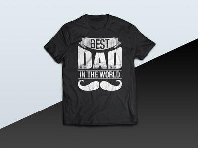 Best DAD In The World - tshirt