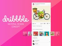Dribbble Material Design