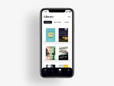 Reading App Design - Librarium reading app reading design mobile mockup animation iphone x typography books iphone ui ux app